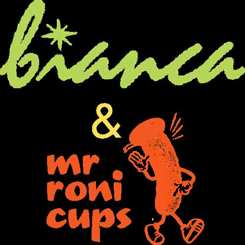 Bianco & Mr. Roni Cups Logo