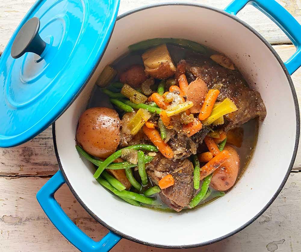 Stew in pot