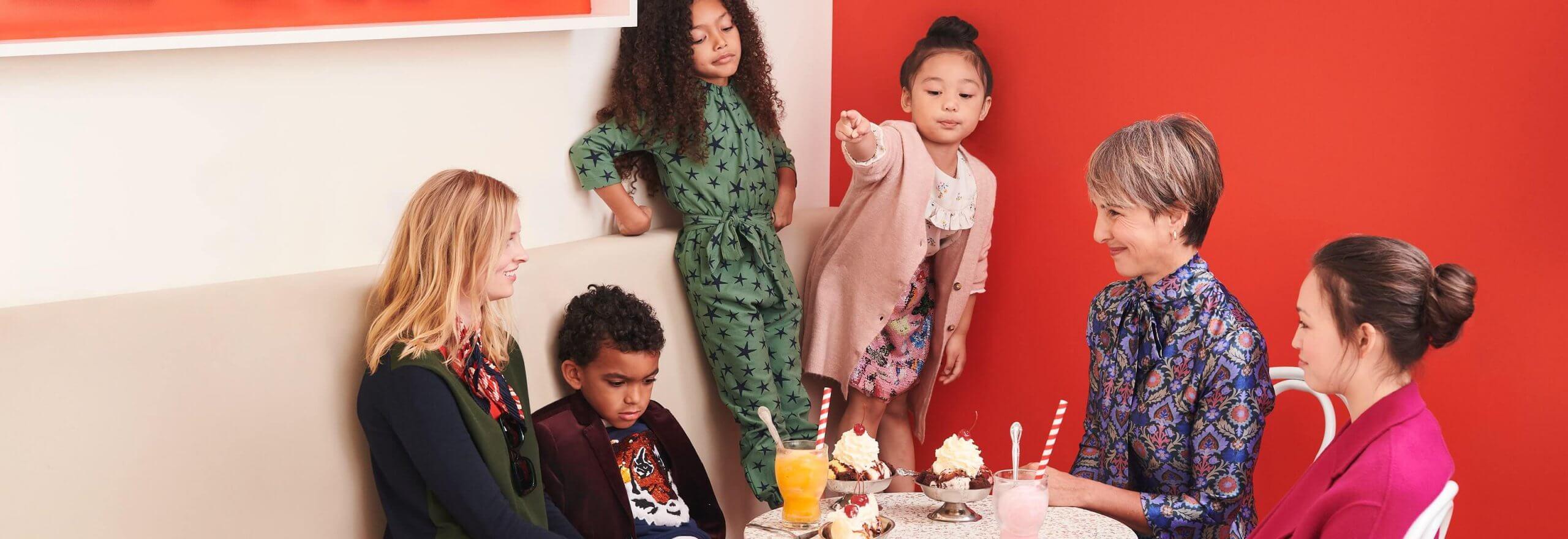 Family eating ice cream