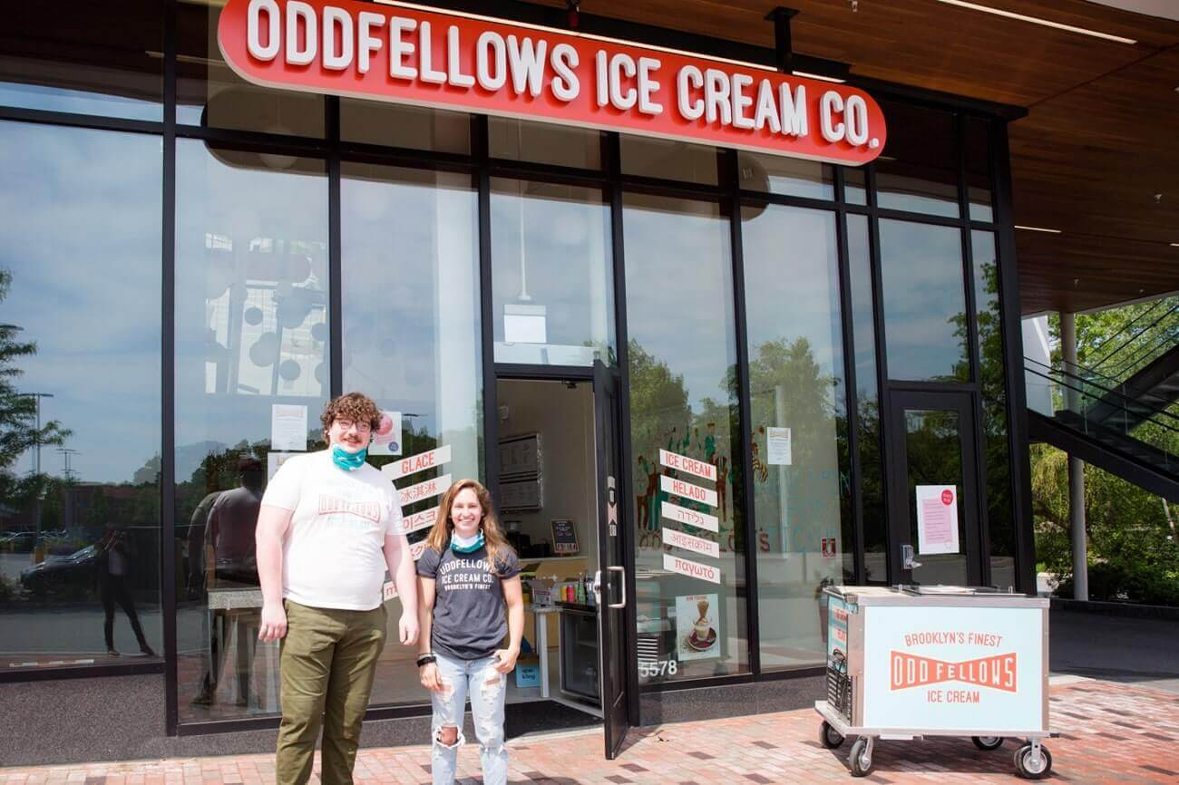 Image of Chris Coughlin, Manager of Oddfellows Ice Cream Co.