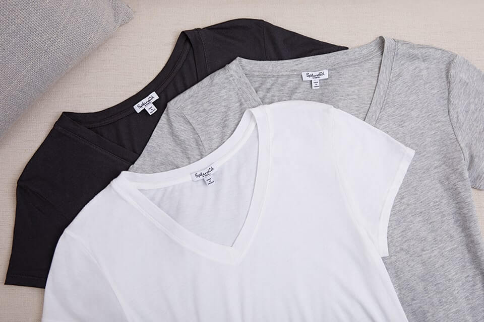 White, Gray, and Black T-Shirts from Splendid